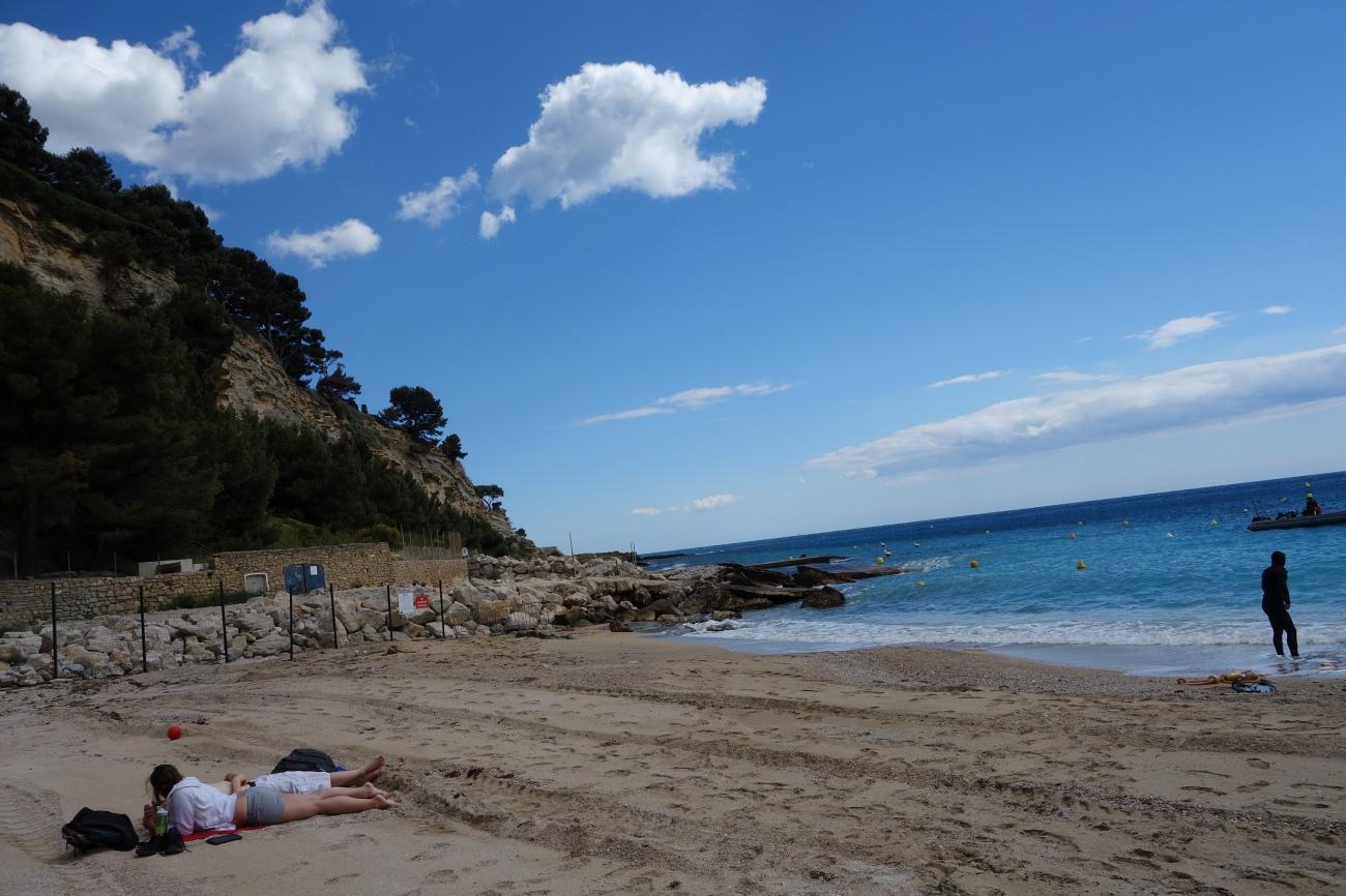 La plage de la Grande Mer, Cassis main beach