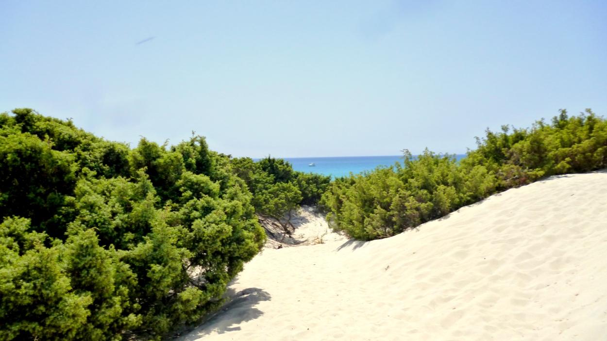 Campulungu beach, Costa Verde, Villasimius, Sardinia