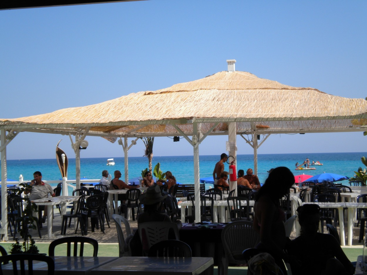 View from Fontane Bianchi beach bar, Sicily