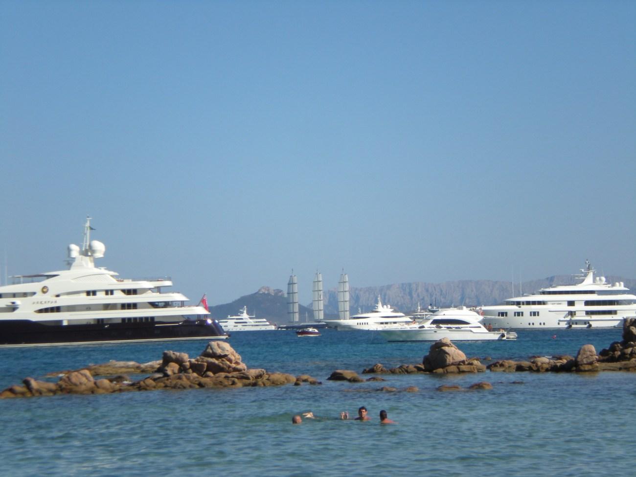 Costa Smeralda yacht parade