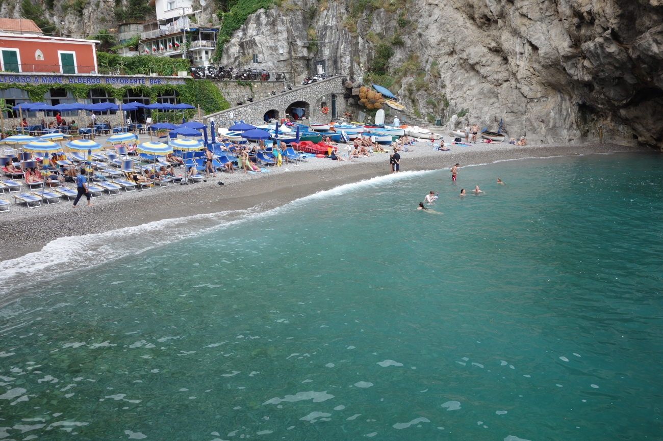 Marina di Praia beach, Amalfi coast