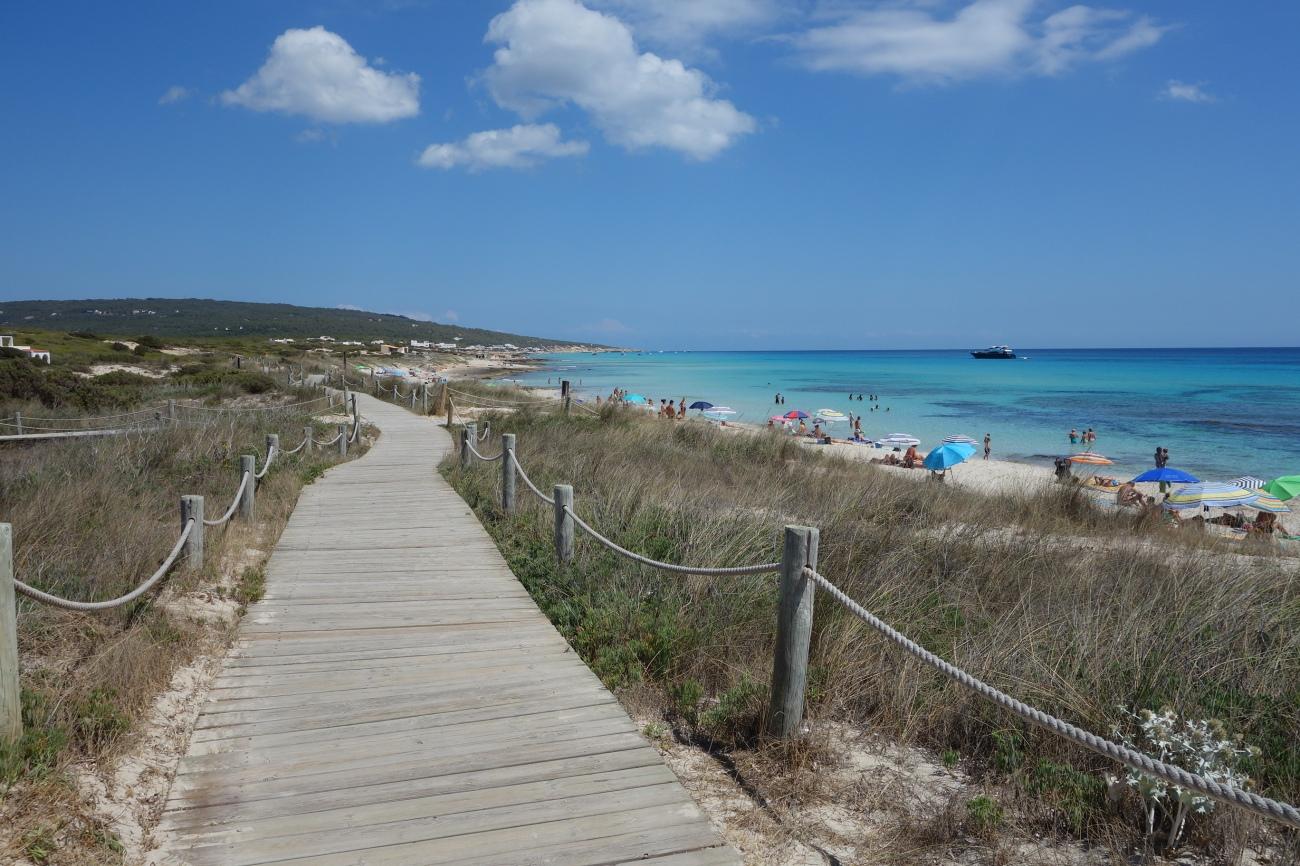 Vogamari beach, Playa Migjorn, Formentera