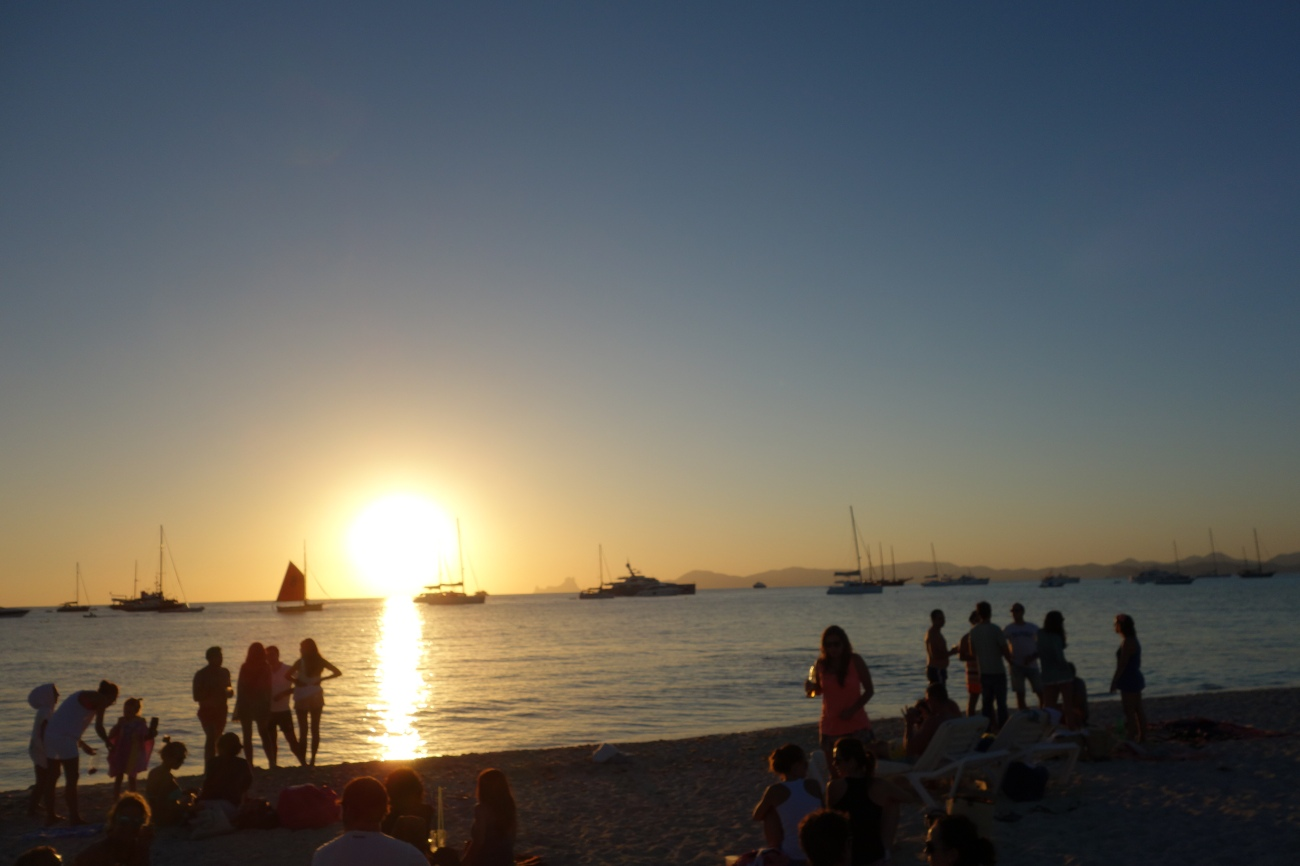 Sunset on the Beso beach , Formentera