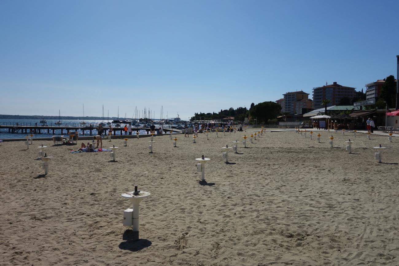Portoroz beach, Slovenia
