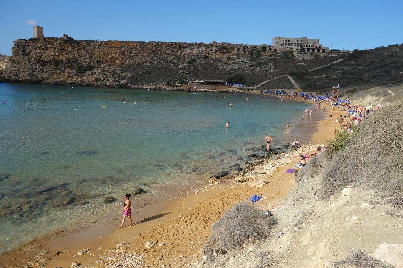 Ghanj Tuffieha bay, Malta