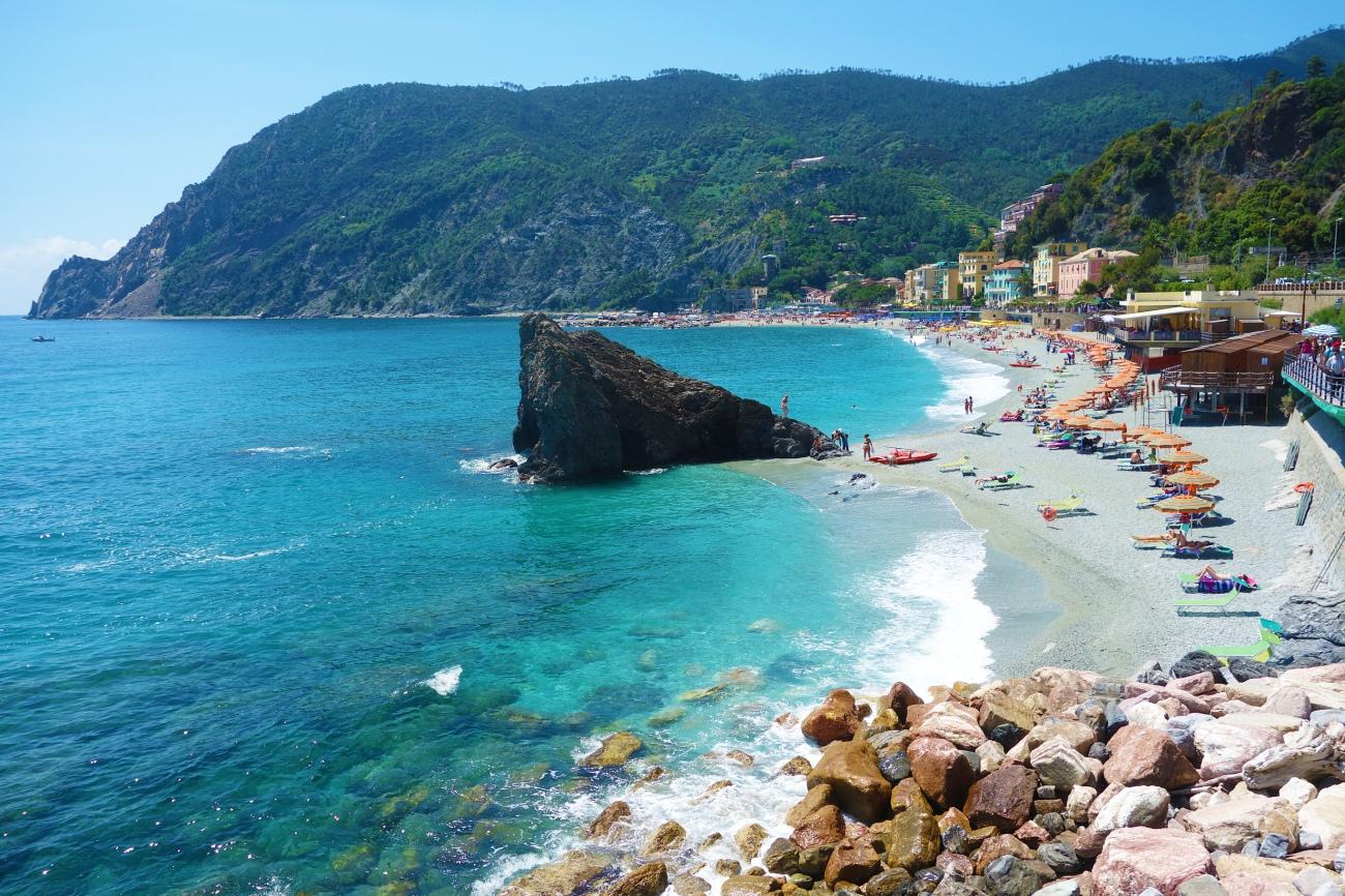 Monterosso al Mare beach, Cinque Terre, Italy
