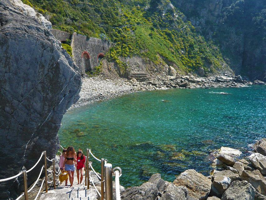Riomaggiore beach, spiaggia della fossola, cinque terre, italy